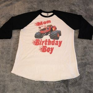 Mom Of The Birthday Boy Blaze Reglan Tee